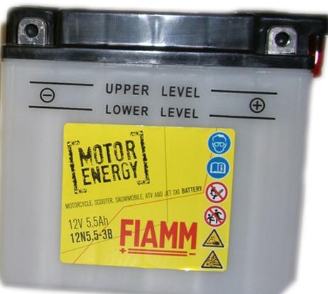 FIAMM 12N5.5-3B FLOODED 12V 5.5AH